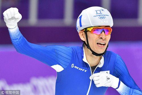 [高清组图]第二金! 速滑男子集体出发李承勋夺冠