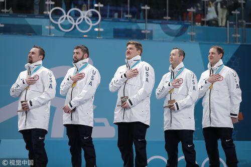 [高清组图]冬奥男子冰壶美国力挫瑞典夺冠