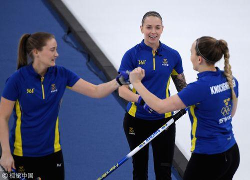 [高清组图]女子冰壶决赛 瑞典8:3胜韩国获得金牌