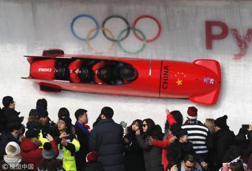[高清组图]冬奥四人雪车 中国队排名26无缘决赛