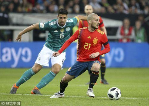热身赛-伊涅斯塔助攻穆勒世界波 德国1-1西班牙