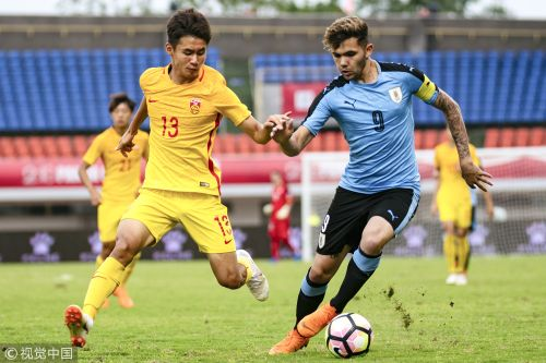 熊猫杯-U19国足3-1乌拉圭全胜首夺冠 刘若钒破