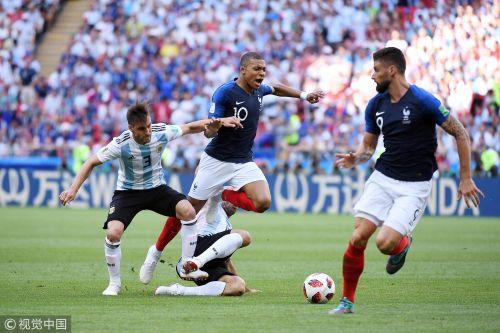 世界杯-姆巴佩梅开二度梅西哑火 法国4-3阿根廷