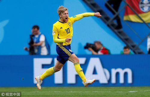 世界杯-中场指挥官进球 瑞典1球力克瑞士进八强