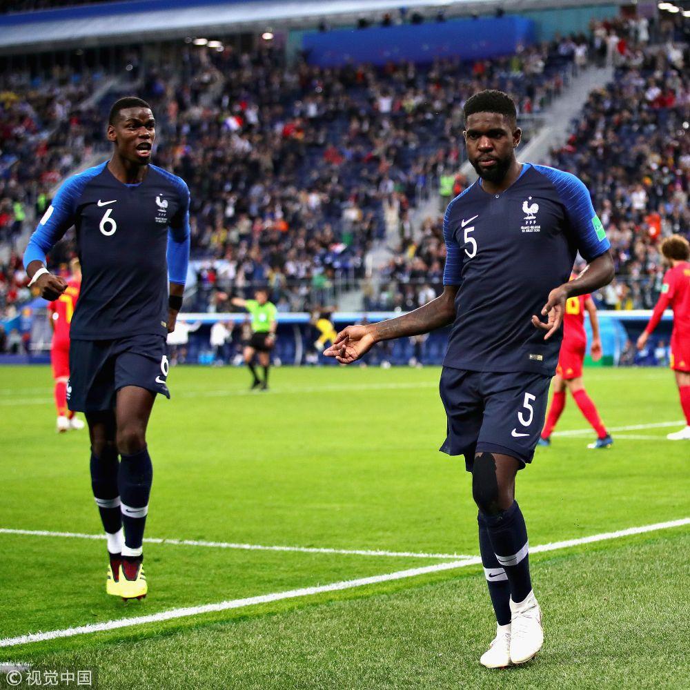 2018年俄罗斯世界杯半决赛:法国1-0比利时