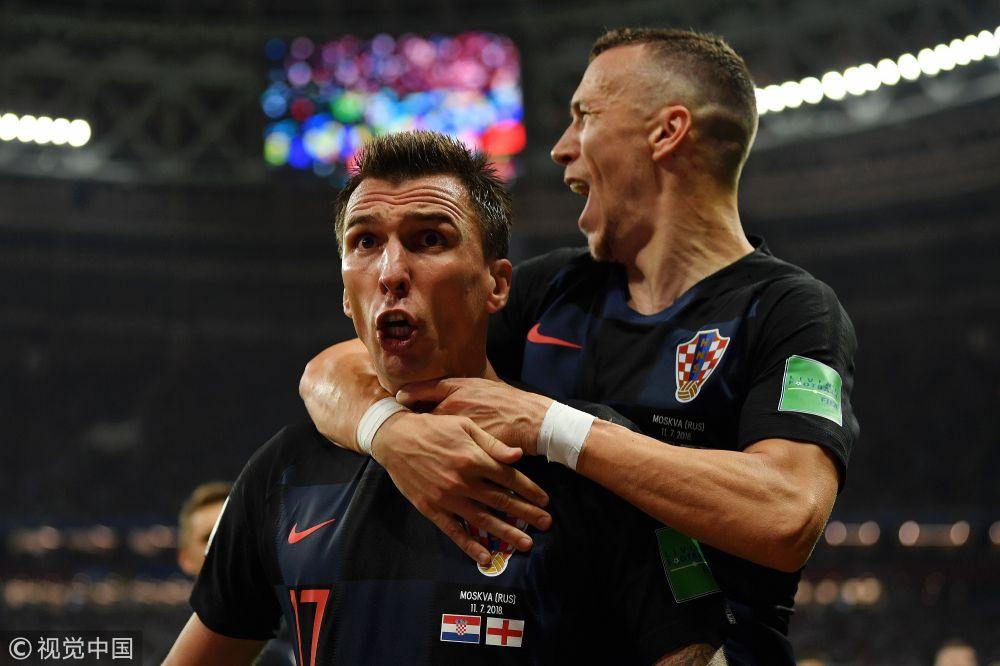 2018年俄罗斯世界杯半决赛:克罗地亚2-1英格兰