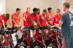 [高清组图]拜仁球员健身房训练备战国际冠军杯