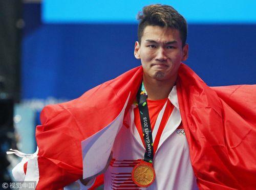 [高清组图]平纪录!徐嘉余首夺亚运仰泳单项冠军
