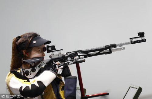 [高清组图]女子10米气步枪决赛 赵若竹夺金