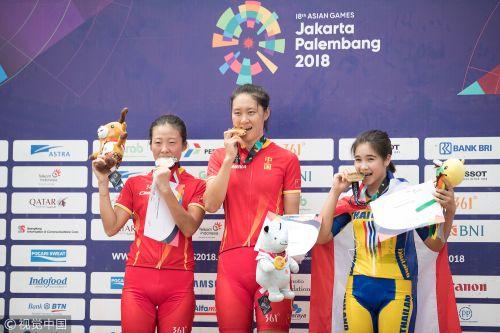 [高清组图]亚运会女子山地自行车姚变娃夺冠