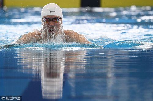 [高清组图]男子100米蛙泳预赛 闫子贝破赛会纪录