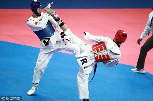 [高清组图]跆拳道男子63公斤级 赵帅遗憾摘银