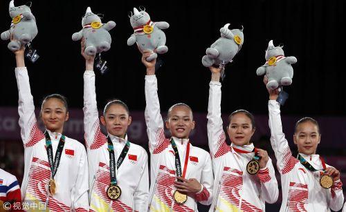 [高清组图]亚运会体操女子团体决赛 中国队夺冠