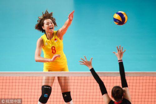 [高清组图]朱婷18分中国女排零封韩国迎亚运3连胜