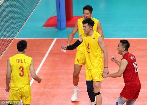 [高清组图]亚运男排小组赛 中国男排3-1胜斯里兰卡