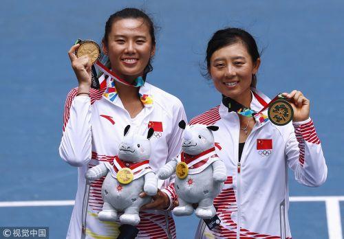 [高清组图]网球女双决赛 杨钊煊、徐一璠夺冠