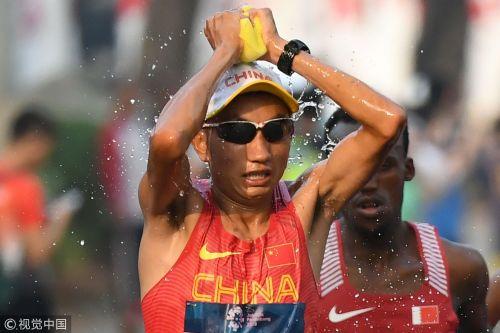 [高清组图]亚运男子马拉松日本夺冠 多布杰摘铜