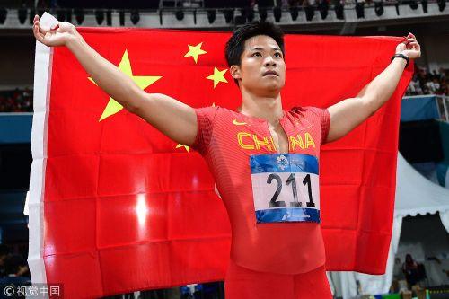 [高清组图]9.92!苏炳添破纪录首夺亚运百米金牌