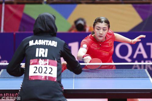 [高清组图]陈梦打头阵国乒3-0伊朗 女团取开门红