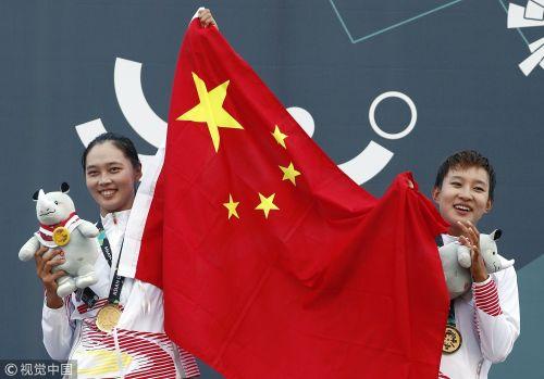 [高清组图]亚运会女子沙滩排球中国组合夺冠