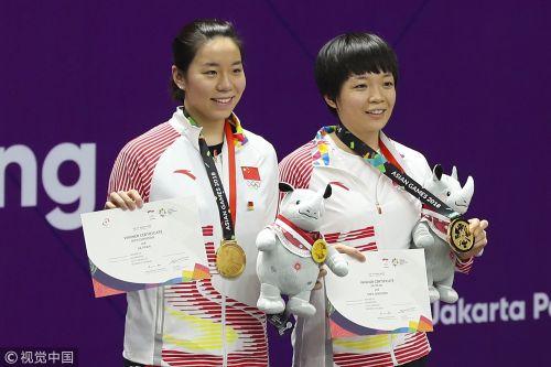 [高清组图]羽球女双决赛 国羽力克奥运冠军夺冠
