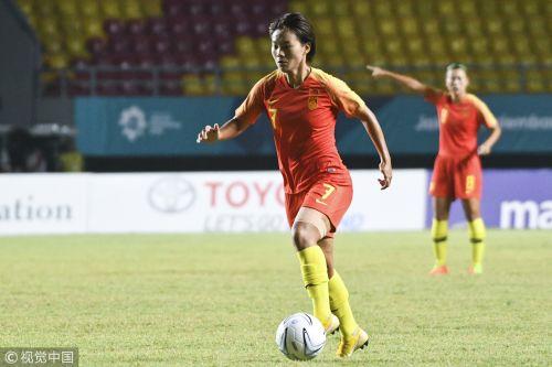 [高清组图]王珊珊建功 女足1-0中国台北再进决赛