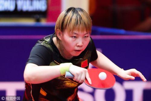 [高清组图]朱雨玲陈梦横扫对手 中国女乒夺取冠军