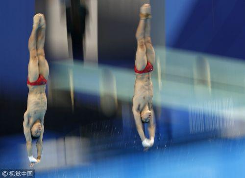 [高清组图]跳水男子双人10米台 陈艾森/杨昊夺金