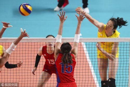 [高清组图]中国女排3-0菲律宾 半决赛将战日本