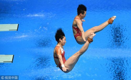 [高清组图]跳水女双3米板 施廷懋/昌雅妮登顶