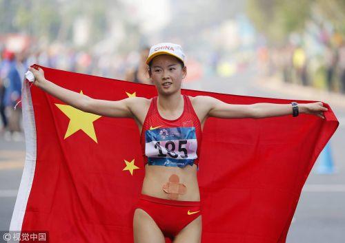 [高清组图]女20KM竞走 杨家玉、切阳什姐分夺冠亚