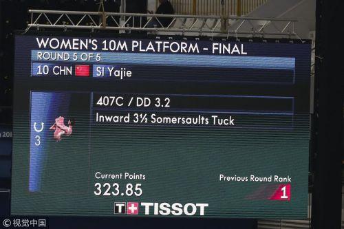 [高清组图]亚运跳水女子10米台 中国包揽金银牌