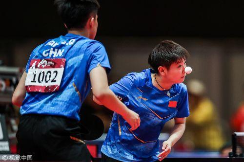 [高清组图]中国包揽亚运乒乓球混双冠亚军