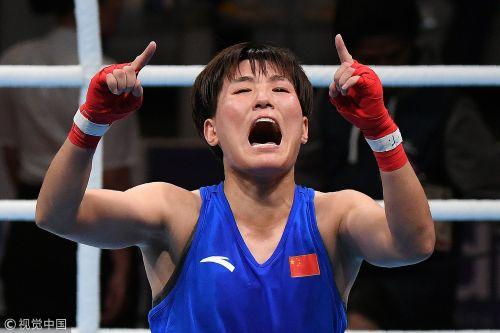 [高清组图]亚运拳击女子57Kg尹军花封后