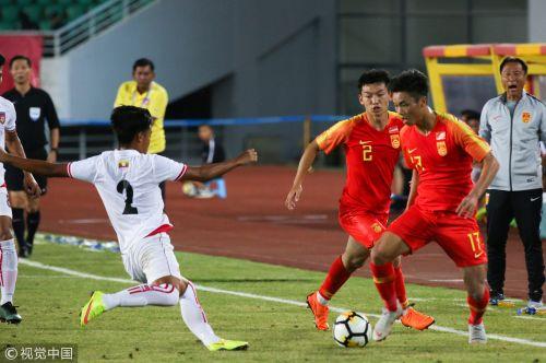 [高清组图]谢维军助攻贺玺破门 U21男足胜缅甸
