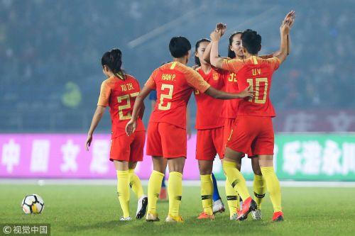 [高清组图]任桂辛世界波吊射 四国赛女足夺冠