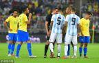 [高清组图]内马尔补时助攻米兰达 巴西绝杀阿根廷