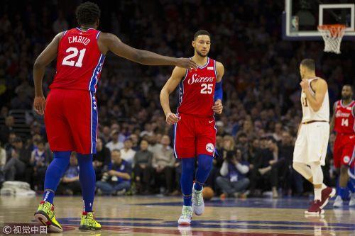 NBA常规赛:费城76人队106-99克里夫兰骑士队