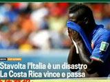 [世界杯]不敌哥斯达黎加 赛后媒体抨击意大利