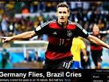 [世界杯]媒体聚焦巴西惨败:德国高飞 巴西哭泣