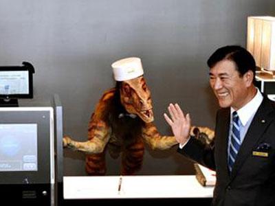 日本奇怪的酒店:机器人当服务员
