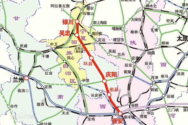 银川至西安高铁宁夏段正式动