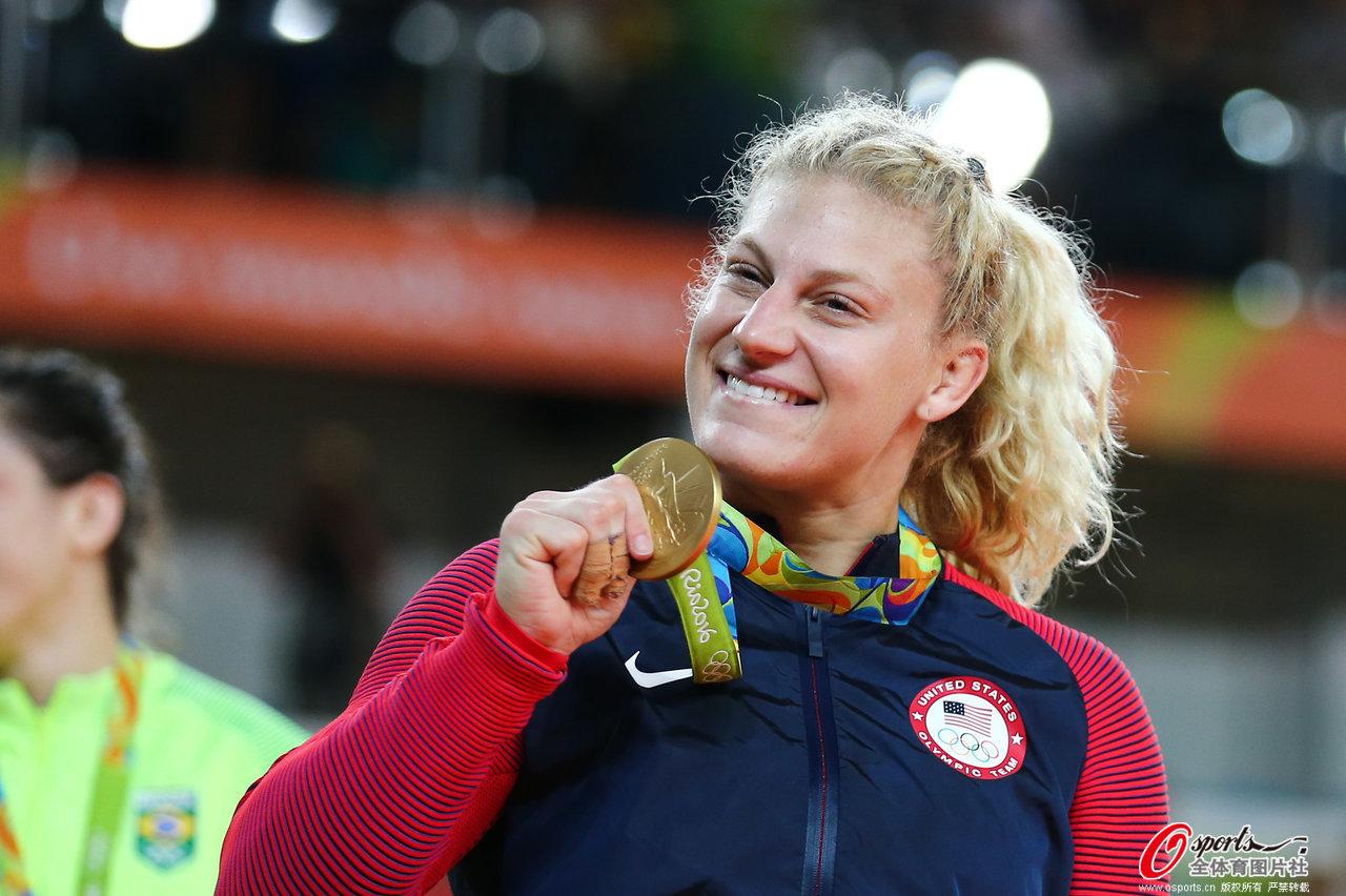 [高清组图]女子柔道78公斤级美国选手夺冠