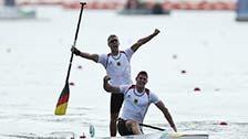 [夺金时刻]德国夺奥运男子双人划艇1000米金牌