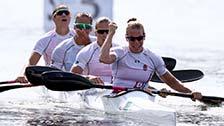 [夺金时刻]匈牙利夺奥运女子四人皮艇500米金牌