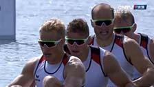 [夺金时刻]德国夺奥运男子四人皮艇1000米金牌