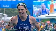 [夺金时刻]约根森夺奥运会铁人三项女子金牌