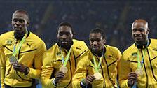 [田径]奥运会男子4×100米接力 颁奖仪式