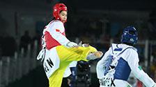 [夺金时刻]女子跆拳道67公斤以上级 郑姝音夺金