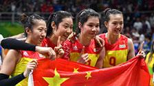 中国女排里约奥运夺金荣耀登顶